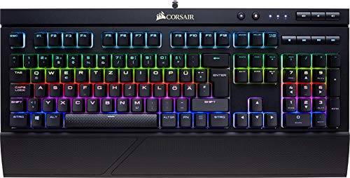 Corsair K68 RGB Mechanische Gaming Tastatur (Cherry MX Red: Leichtgängig und Schnell, Dynamischer RGB LED Hintergrundbeleuchtung, Staub und spritzwassergeschützt, QWERTZ DE Layout) schwarz