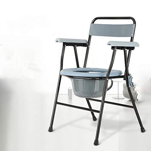 De tubo de acero Silla WC,vater portatil silla inodoro ancianos silla con...