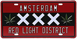 Amsterdam Red Light District Vintage Metal Signs Tin Plaque Wall Poster for Garage Man Cave Cafe Bar Pub Beer Patio Wall Decor