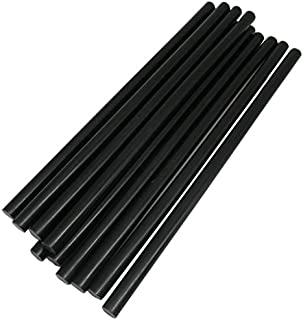 TrendBox Pack of 20 Black 7mmx200mm - Hot Melt Glue Sticks Strips Melting Adhesive for Handmade Craft DIY Home Office Project Craftwork Fix & Repairs