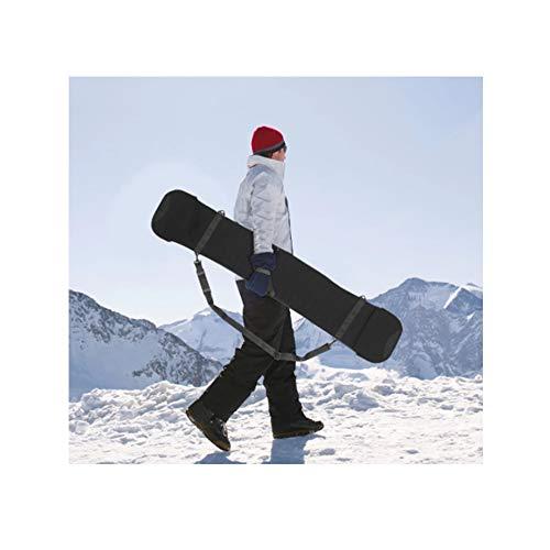 FJSC Professionelle Skitasche, Voll Gepolsterte Skireisetasche, Für Skier Und Stöcke Bis 145 cm / 155 cm, Wasserdicht, Schwarz 155 cm