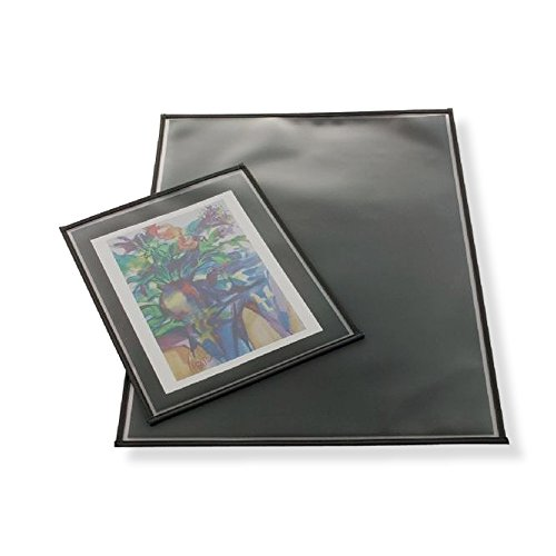"""Alvin AA3243-6 Prestige Archival Print Protector 32"""" x 43"""", Contains 6-pack, Polypropylene Material, Black/Gray Color"""