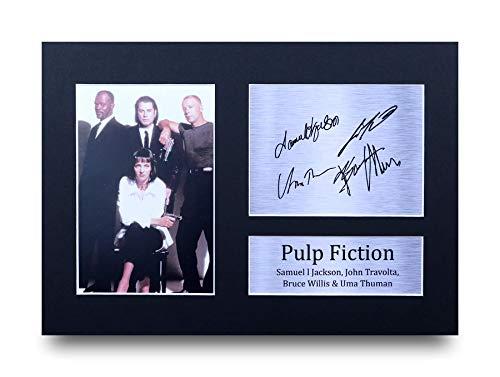 HWC Trading Pulp Fiction A4 Ungerahmt Signiert Gedruckt Autogramme Bild Druck-Fotoanzeige Geschenk Für Filmfans
