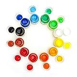 LIGHTWISH Fingerfarben Kinder ungiftig Set, 12 Farben x 30 ml, waschbare DIY-Farbe für Kleinkinder, Kinder und Studenten