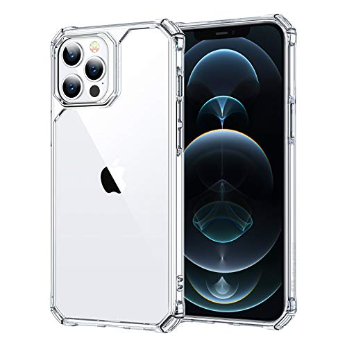 ESR Air Armor Tough Case Compatible with iPhone 12 Pro Max 6.7-Inch, Shock Absorbing and Scratch Resistant, Military-Grade Protective Performance, Hard Back with Flexible Frame, Clear