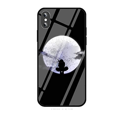 Carcasa de Cristal Templado para iPhone 11 Pro MAX SE 2020 X XR XS MAX 6 6S 7 8 Plus Uchiha Sasuke Itachi Kakashi Akatsuki-Photo_Color_6plus/6splus