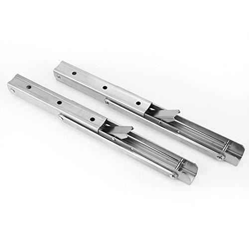 2 piezas de soporte de esquina de acero inoxidable resistente para colgar en la pared, soporte plegable, soporte triangular con tornillos para mesa, banco de trabajo