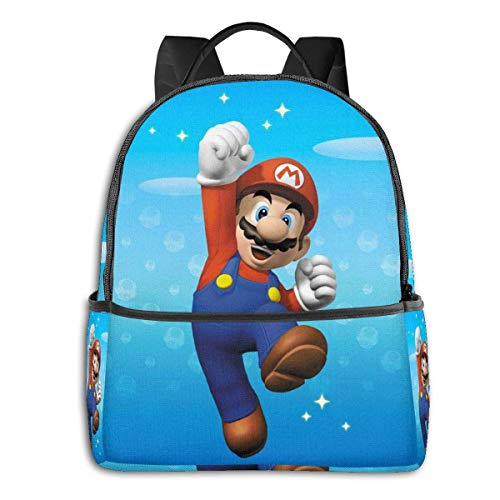 DJNGN Game Super Ma-ri-o Backpack Unisexs Student Bag Classic Lightweight Zipper Backpacks 14.5 X 12x 5 in