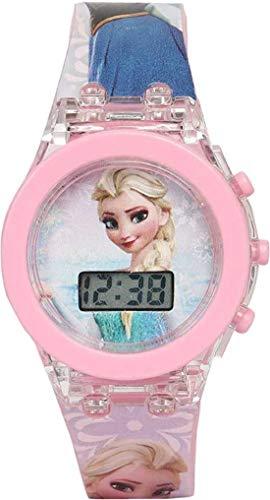 DRITON Digital Kids Light Watch Frozen/Hello Kitty/Princess / (Random Character) Digital Girl's Watch(Pink Dial & Pink Colored Strap)-DIGITAL34MFS
