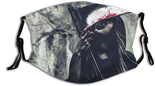 Keyboard cover Face Shield Hexe leckt Blut auf Reaper Female Demon Angel Halloween Day Mystery Leben nach dem Tod und Tod Konzept Wiederverwendbarer Gesichtsschutz