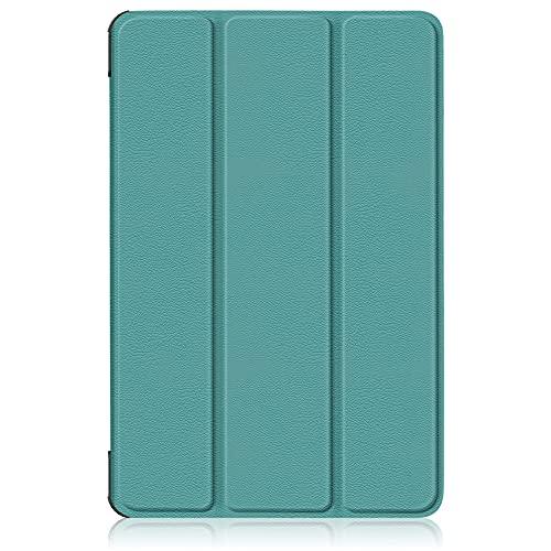 INSOLKIDON Compatible con Xiaomi mi Pad 5 Pro / Pad 5 Tablet Funda Protectora Trasera de Cuero Bumper Protección de Cuerpo Completo Funda Protectora de Cuero (Verde Oscuro)
