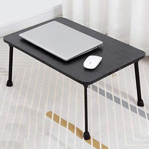 ZXL Student bed, laptop bureau, opklaptafel, kleine eettafel voor kinderen 60x40x28cm (kleur: zwart)