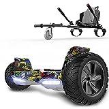 RCB Hoverboards SUV Scooter Auto-équilibré électrique Tout Terrain 8.5 '' Gyropode Hummer Bluetooth + Hoverkart Go Kart pour Gyropode