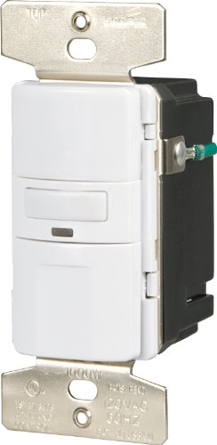 EATON OS310U-W-K Motion-Activated Occupancy Sensor Wall Switch, White