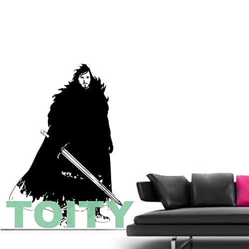 guijiumai Jon Snow Nights Uhr Stark Wandkunst Aufkleber Vinyl Aufkleber Home Room Dec105X74CM
