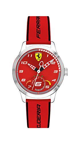 Scuderia Ferrari Unisex Kinder Analog Quarz Uhr mit Silikon Armband 860004