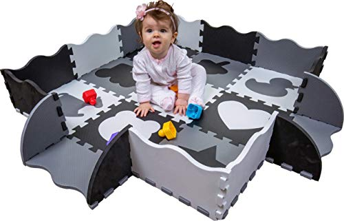 Wee Giggles Non-Toxic Foam Baby Play Mat for Tummy Time, Sitting and Crawling |...