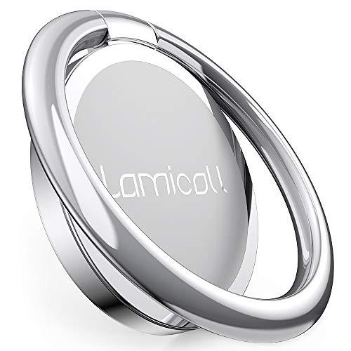Lamicall Anillo Soporte Móvil, Soporte Teléfono - Soporte para Teléfono para iPhone 12, 11 Pro MAX, XS MAX XR X 8 7 6S 6 Plus 5S 5 4S 4, Samsung S10 S9 S8, Huawei, Android Smartphones - Plata