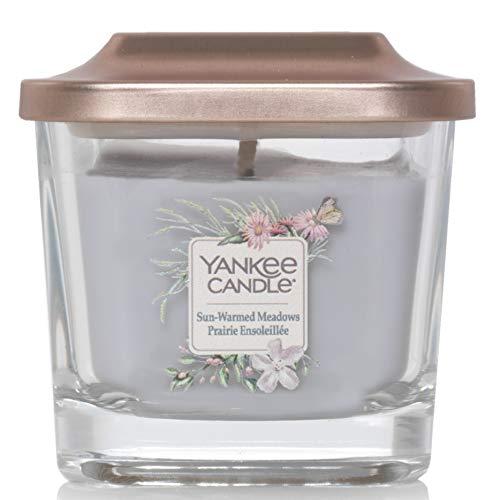 Yankee Candle Kleine quadratische Duftkerze mit 1 Docht und Deckel, Elevation Collection, Citrus Orchard Scent