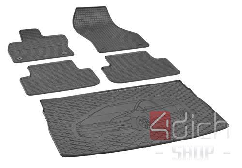 Passgenaue Kofferraumwanne und Gummifußmatten geeignet für VW Golf VII Sportsvan ab 2014 + Autoschoner MONTEUR