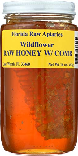 BUZZ BEE Wildflower Honey With Comb, 16 OZ