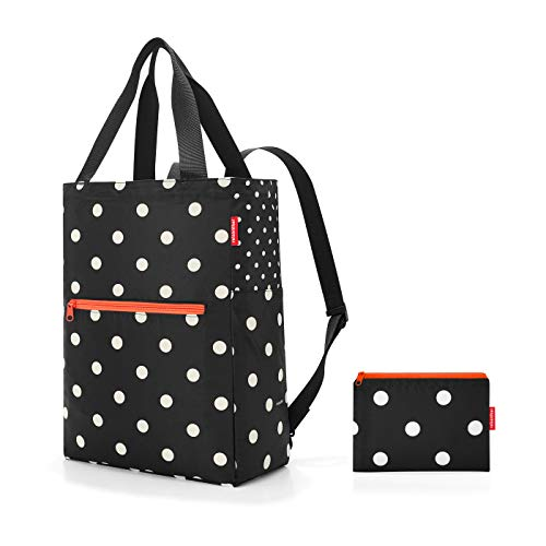 reisenthel mini maxi 2-in-1 Bolsa de deporte, 41 cm, 19 liters, Negro (Mixed Dots)