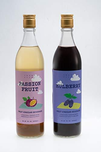 Young Scent Premium Drinking Fruit Vinegar 600 ml | No Preservative Prebiotics Non-GMO Healthy Drink | Comes With 12 Delicious Drink Recipes For Download (Mix Flavor)