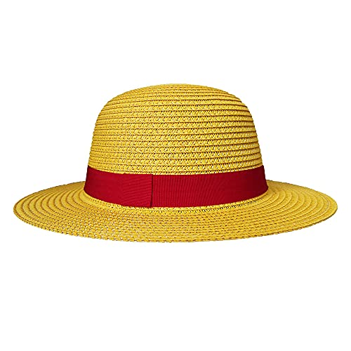 Straw Hat Anime Cosplay Accessories Straw Hats for Men Sun Hat Womens (head Circumference 22-22.8 Inches)
