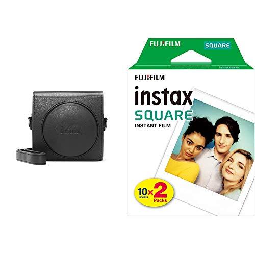 Fujifilm 70100141158 Instax SQ 6 Tasche Schwarz & Instax Square WW2 Colorfilm klar