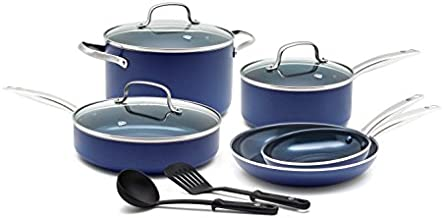 Blue Diamond CC001602-001 Toxin Free Ceramic Nonstick Cookware Set, Big Value