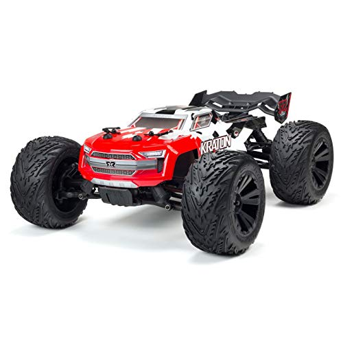 ARRMA 1/10 KRATON 4X4 4S BLX Brushless 4WD RC Speed Monster Truck RTR with 2.4GHz Spektrum Radio (Battery Not Included), Red (ARA102690)