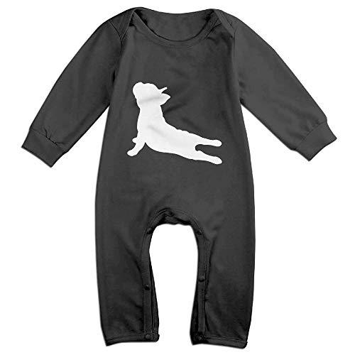 OPQRSTQ-O French Bulldog Yoga Infant Baby Girl Boys Long Sleeve Kawaii Bodysuit Outfits Clothes