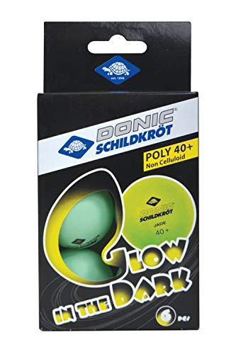 Donic-Schildkröt Pelotas de Tenis de Mesa Glow in The Dark, 6 Pelotas...
