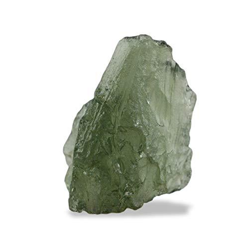Auténtica piedra Moldavita bruta entre 10-14 quilates
