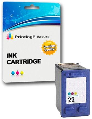 Printing Pleasure Color Druckerpatrone für HP Deskjet 3940 F2120 F2180 F2280 F300 F350 F370 F380 F4180 D1460 D2320 D2345 D2360 D2368 D2460 Officejet 4315 PSC 1410 | kompatibel zu HP 22XL (C9352AE)