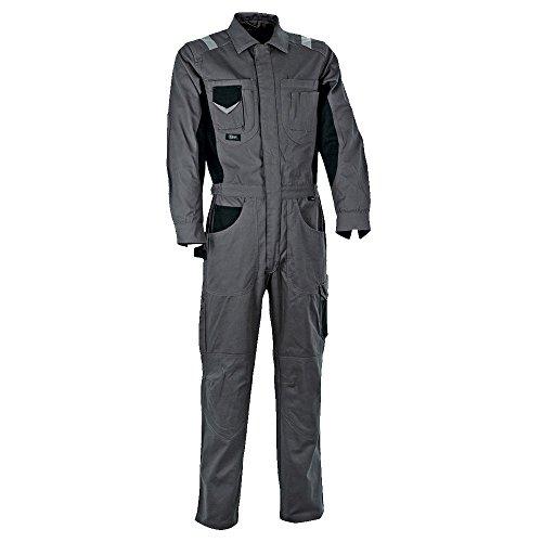 Cofra S.r.l. 40-00V00504-52 Cofra Overall PIT-STOP V005-0-04 Mechaniker Arbeitsoverall 52, ANTHRACITE/BLACK