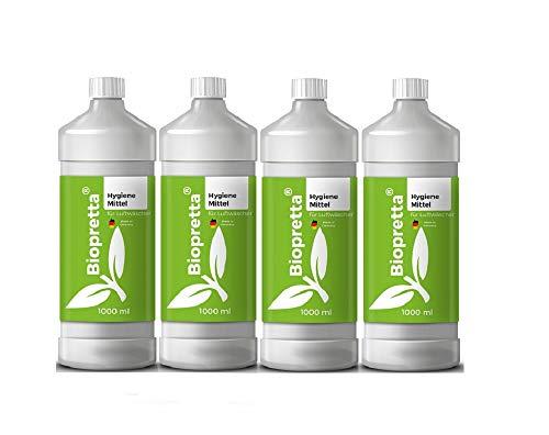 4 x 1000ml Biopretta Hygienemittel für Luftwäscher Luftreiniger Luftbefeuchter