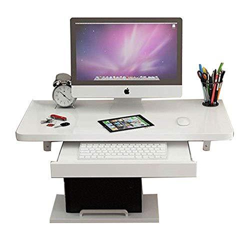 LXDDP FSC-zertifizierter Wandklapptisch PC-Laptop-Schwimmpult mit integrierter Host-Tastaturhalterung Holzregale für Home-Office-Kinder