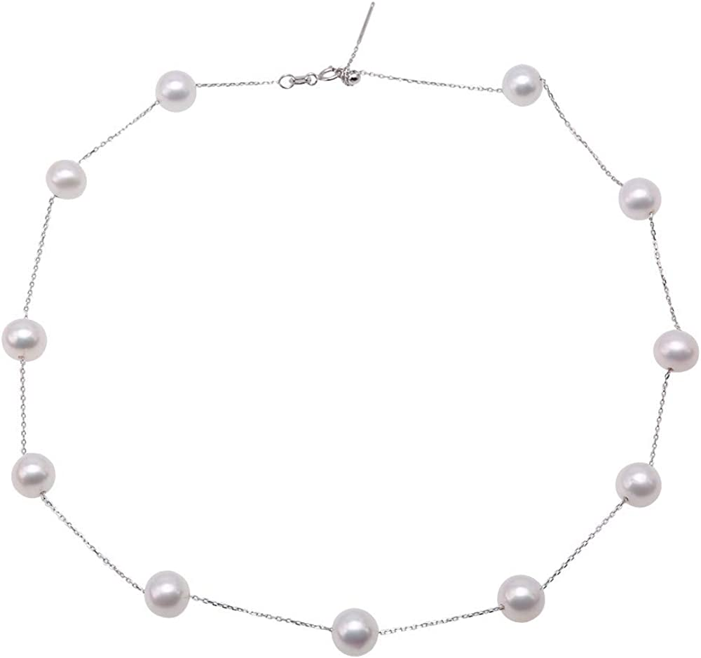 JYXJEWELRY Pearl Necklace for Women Rare White Mail order cheap 8.5-9mm Delicate Fresh