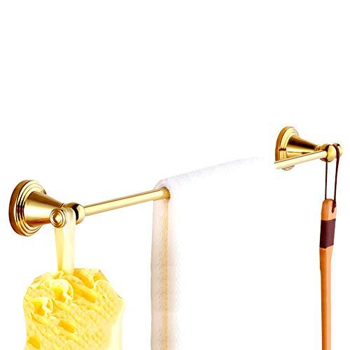 XIAOZHEN Toallero Baño Barra de Toalla Toalleros Repisa Toalleros De Barra Toalla Baño Toallero Percha for Puerta Soporte Toalla Estante Enganche De Varilla Individual De Bronce Enchapado En Oro
