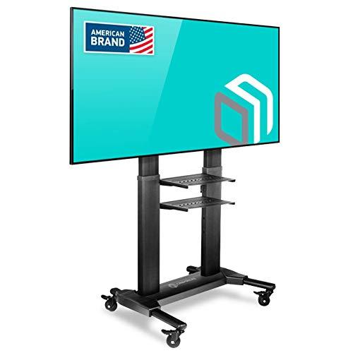 """ONKRON Supporto TV da pavimento per schermi 40"""" - 80 pollici LCD LED QLED CARRELLO TV UNIVERSALE CON ROTELLE PIEDISTALLO PER TV FINO 45.5 kg MOBILE STAFFA TV CON VESA max 700 x 400 mm TS2771"""
