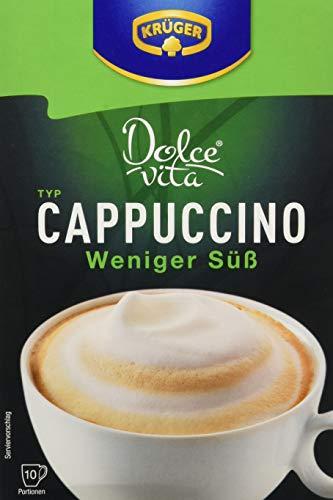 Krüger Vita Cappuccino, Weniger Süß, 8er Pack (8 x 10 Portionen)