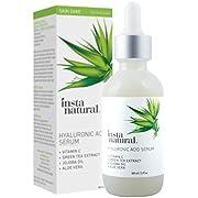 InstaNatural Hyaluronic Acid Serum for Dry Skin on Face - With Vitamin C, Organic & Pure Ingredients for Wrinkle, Fine Line, Eye Bag Defense - Advanced Anti Aging Moisturiser for Men & Women – 60 ml