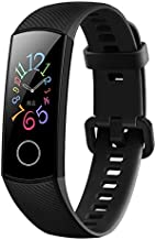 Honor Band 5 Smartband Standard Version, 0.95 Inch AMOLED Full Color Screen, IP68 50M Waterproof, Real Heart Rate Swimming Sports Tracker True Sleep Monitoring Pedometer (Black)