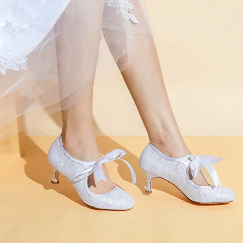 Jia Jia Wedding 14031 Hochzeitsschuhe Brautschuhe Damen Pumps weiß, EU 35 - 2