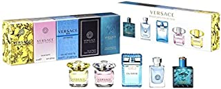Versace Miniatures Collection Fragrance Set for Unisex, 5 Count