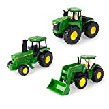 ERTL Iron John Deere Tractor Toy 3-Pack - Includes John Deere 9620R, 4020, and 4960 Tractors