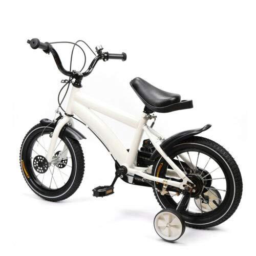 Aohuada Liciamo - Bicicletta universale per bambini, 14 pollici, per ragazzi e ragazze, colore: Bianco