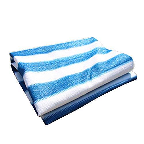 YXLZ schaduwnet, 4 x 5 m, blauwe en witte strepen – net blokkeert de zon, uv-80% – sprei, groot, Chenil – terras