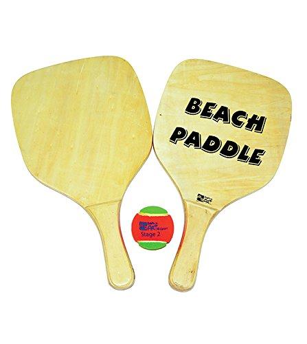 Beach Art 2014, Set Racchette con Pallina Unisex – Adulto, Legno, 40x22x1 cm